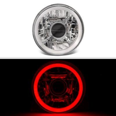 Chevy El Camino 1964-1970 Red Halo Tube Sealed Beam Projector Headlight Conversion