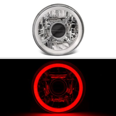 Chrysler New Yorker 1965-1981 Red Halo Tube Sealed Beam Projector Headlight Conversion