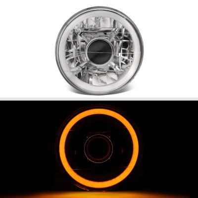 BMW 5 Series 1982-1988 Amber Halo Tube Sealed Beam Projector Headlight Conversion