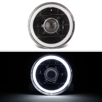 BMW 5 Series 1982-1988 Halo Tube Black Sealed Beam Projector Headlight Conversion