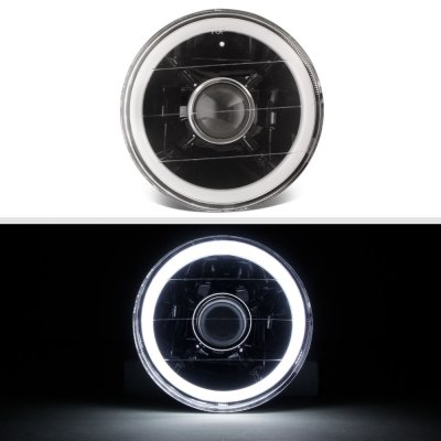 Cadillac Calais 1965-1972 Halo Tube Black Sealed Beam Projector Headlight Conversion