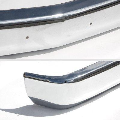 GMC Sierra 1994-1998 Chrome Front Bumper License Bracket Holes