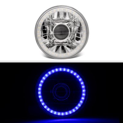 Pontiac LeMans 1964-1972 Blue LED Halo Sealed Beam Projector Headlight Conversion