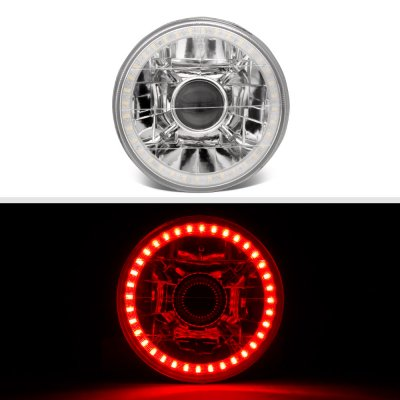 Cadillac Deville 1961-1972 Red LED Halo Sealed Beam Projector Headlight Conversion