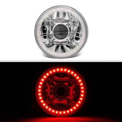 Pontiac LeMans 1964-1972 Red LED Halo Sealed Beam Projector Headlight Conversion