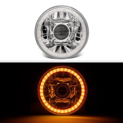 Cadillac Calais 1965-1972 Amber LED Halo Sealed Beam Projector Headlight Conversion