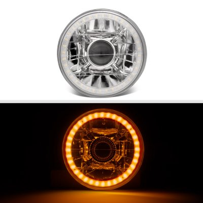 Chrysler New Yorker 1965-1981 Amber LED Halo Sealed Beam Projector Headlight Conversion