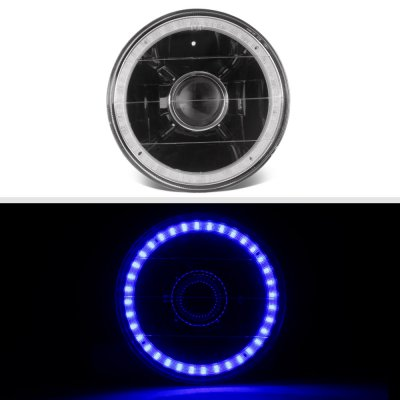 Buick Special 1961-1969 Blue LED Halo Black Sealed Beam Projector Headlight Conversion