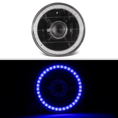 Pontiac LeMans 1964-1972 Blue LED Halo Black Sealed Beam Projector Headlight Conversion