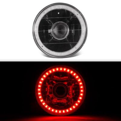 Buick Skylark 1962-1972 Red LED Halo Black Sealed Beam Projector Headlight Conversion