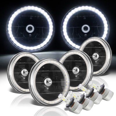 Chevy Chevelle 1964-1970 LED Halo Black LED Headlights Conversion Kit