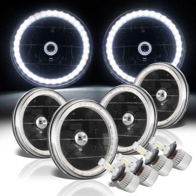 Chevy El Camino 1964-1970 LED Halo Black LED Headlights Conversion Kit