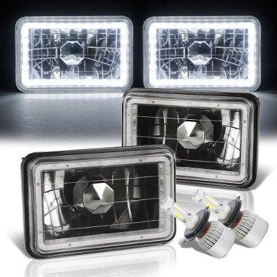 Chevy Blazer 1995-1997 LED Halo Black LED Headlights Conversion Kit