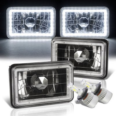 Chevy Celebrity 1982-1986 LED Halo Black LED Headlights Conversion Kit