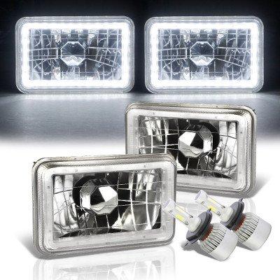 Pontiac LeMans 1976-1977 White LED Halo LED Headlights Conversion Kit