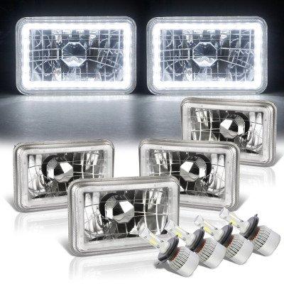 Cadillac Eldorado 1975-1985 White LED Halo LED Headlights Conversion Kit Low and High Beams
