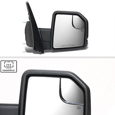 Ford F150 XL 2015-2020 Glossy Black Side Mirrors Power Heated LED Signal