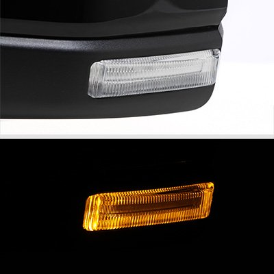 Ford F150 2015-2020 Glossy Black Power Heated Side Mirrors LED DRL Lights