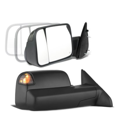 Dodge Ram 2009-2018 Power Folding Towing Mirrors Smoked LED Signal Heated