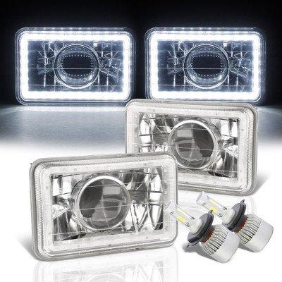 Chevy El Camino 1982-1987 White LED Halo LED Projector Headlights Conversion Kit