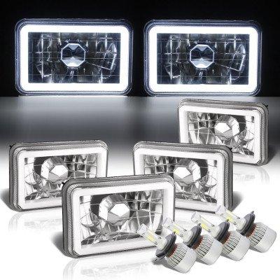 Chevy El Camino 1982-1987 Halo Tube LED Headlights Conversion Kit Low and High Beams