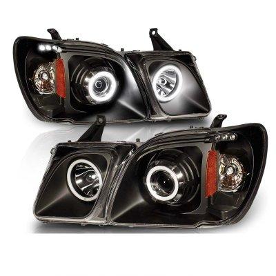 Lexus LX470 1998-2007 Projector Headlights Black Halo LED