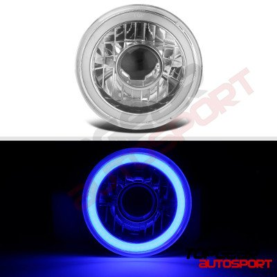 Porsche 911 1969-1986 Blue Halo Tube Sealed Beam Projector Headlight Conversion