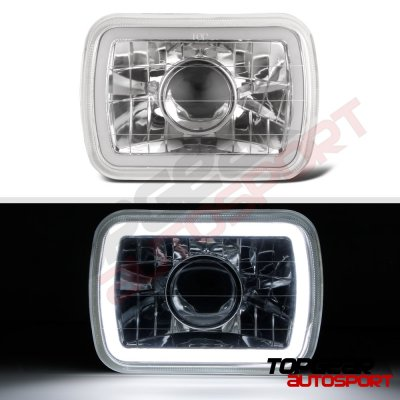 Jeep Wrangler YJ 1987-1995 Halo Tube Sealed Beam Projector Headlight Conversion