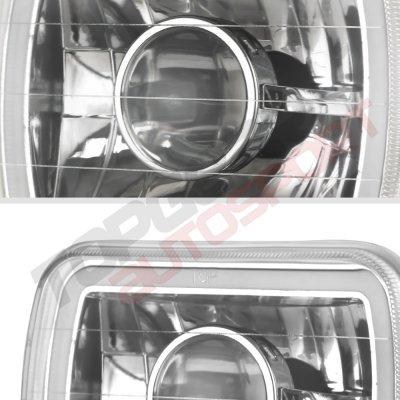 Dodge D50 1979-1980 Halo Tube Sealed Beam Projector Headlight Conversion