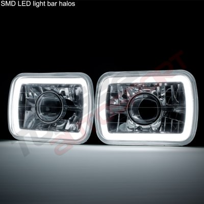 Ford F550 1999-2004 Halo Tube Sealed Beam Projector Headlight Conversion