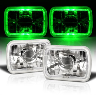 Jeep Wrangler YJ 1987-1995 Green Halo Sealed Beam Projector Headlight Conversion
