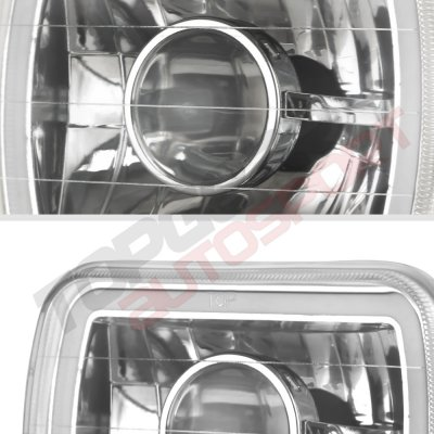Chevy Citation 1980-1985 Red Halo Tube Sealed Beam Projector Headlight Conversion