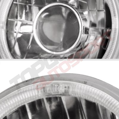 Porsche 911 1969-1986 Sealed Beam Projector Headlight Conversion Red Halo