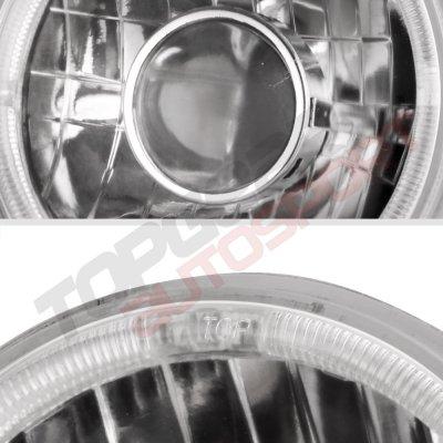 Toyota Land Cruiser 1979-1987 Sealed Beam Projector Headlight Conversion Red Halo