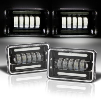 Cadillac Eldorado 1975-1985 Black DRL LED Headlights Conversion