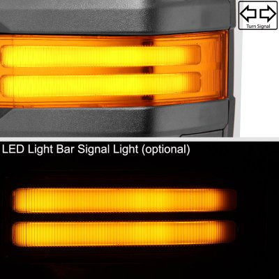 Chevy Silverado 2014-2018 Power Folding Towing Mirrors Tube Lights