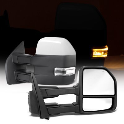Ford F150 2015-2019 White Towing Mirrors Power Heated LED Signal 22 Pins