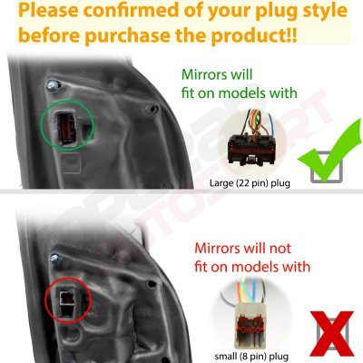 Ford F150 2015-2020 White Towing Mirrors Power Heated LED Signal 22 Pins