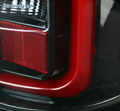 GMC Sierra 2500HD 2015-2018 Glossy Black LED Tail Lights