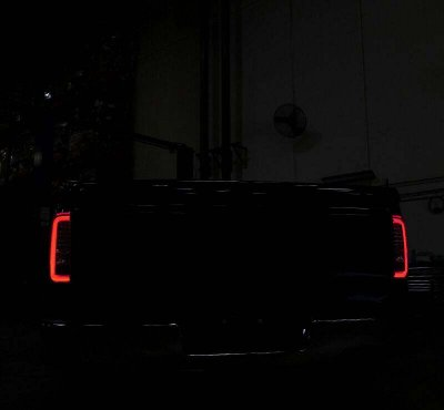 GMC Sierra 2014-2018 Black LED Tail Lights