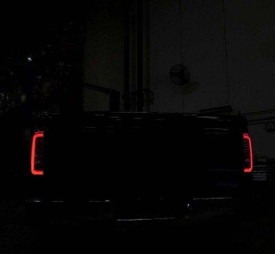 GMC Sierra 3500HD 2015-2018 Black LED Tail Lights
