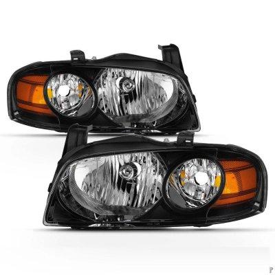 Nissan Sentra 2004-2006 Black Euro Headlights