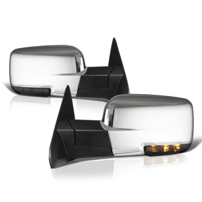 Dodge Ram 1500 2013 2018 Chrome Power Heated Side Mirrors Smoked Led Signal A1285ngm155 Topgearautosport