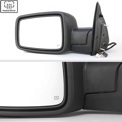 Dodge Ram 1500 2013-2018 Chrome Power Heated Side Mirrors Smoked LED Signal