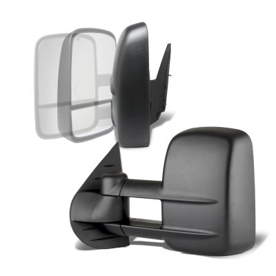 GMC Sierra 2007-2013 Power Folding Towing Mirrors Conversion