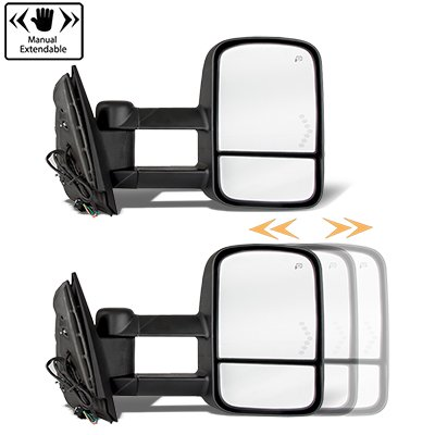 Chevy Silverado 2500HD 2007-2014 Power Folding Towing Mirrors Conversion