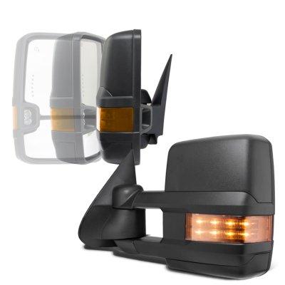 Chevy Silverado 2500HD 2003-2006 Power Folding Towing Mirrors LED Lights