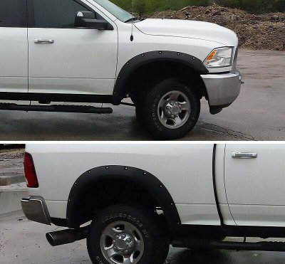 Dodge Ram 3500 2010-2018 Fender Flares Rivet Bolt Style