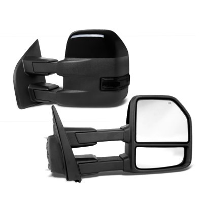 Power Heated Signal Black Left Side Mirror Fits 2003-2007 Ford F-250 Super Duty