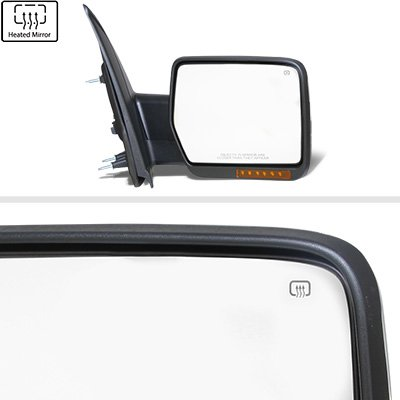 Ford F150 2007-2014 Chrome Power Heated Side Mirrors LED Signal